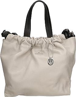Roberta Rossi Outlet borsa shopper da donna in vera pelle Dollaro fatta a mano in Italia, 30x30x17 cm. Made in Italy RRSS2...