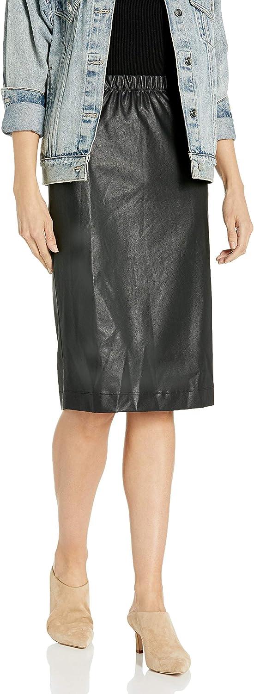 BCBGMAXAZRIA Women's Lyric Knit Faux Leather Pencil Skirt