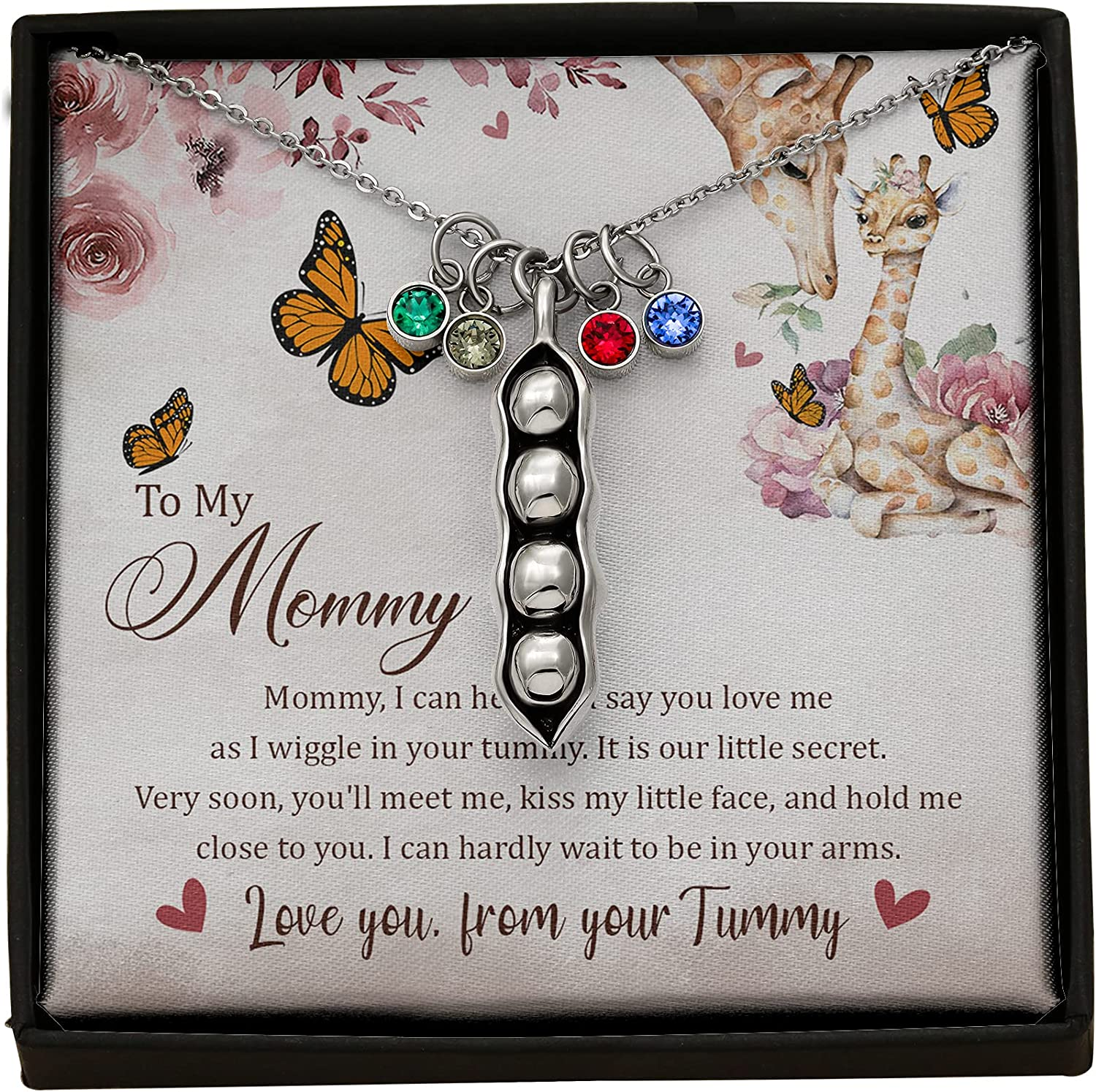 TeezWonder Ranking TOP13 Pregnancy Necklace - Expecting Limited price Mom Necklac Mommy Gift