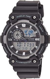 Casio Digital Men's Grey Dial Silicone Band Watch - AEQ-200W-9AVDF