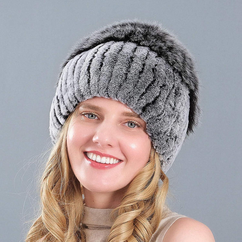 BELEMON Women Winter Hat online shopping Rabbit Skullies Tulsa Mall Ladies Fur B Casual