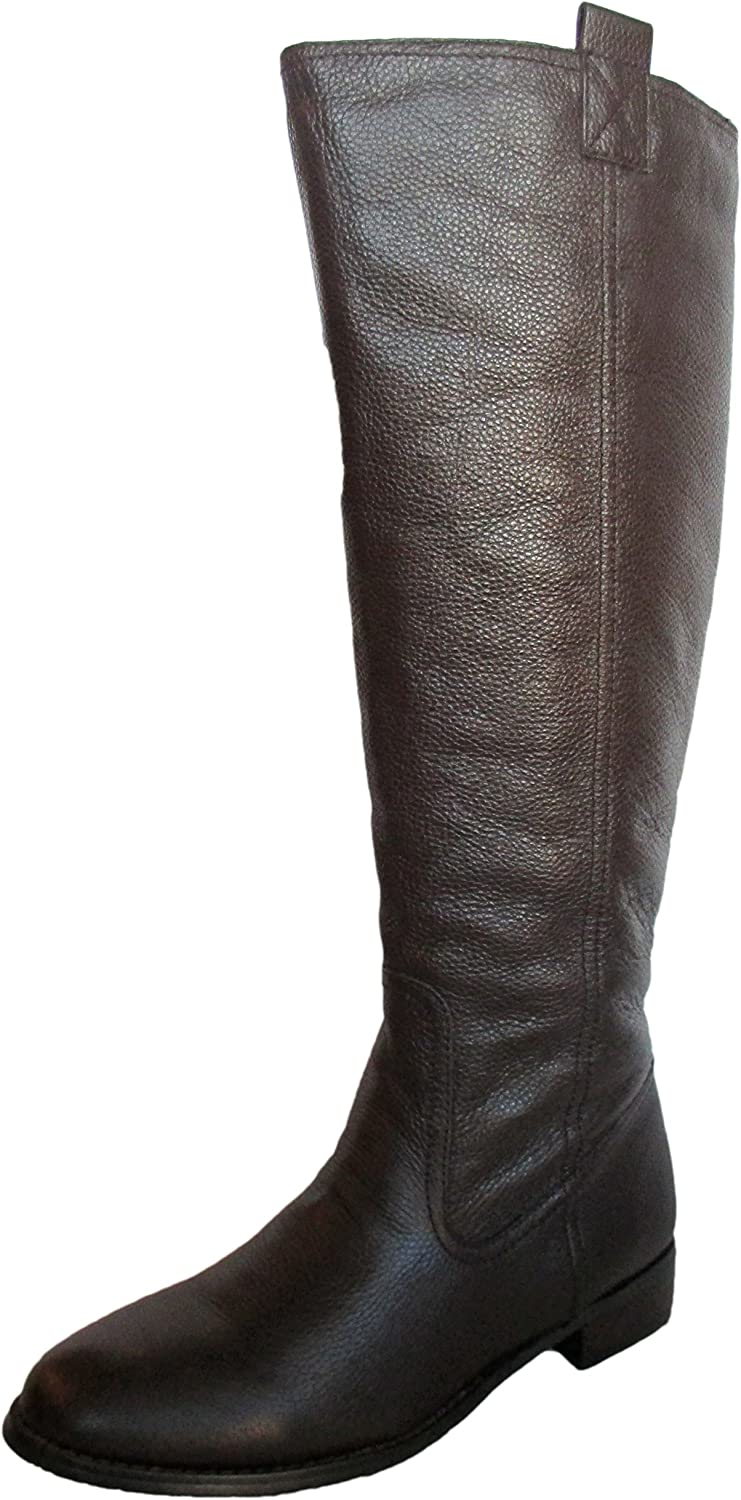 Lumiani International Collection Women's Lacey Wide Calf Brown Pebble Calf Boot