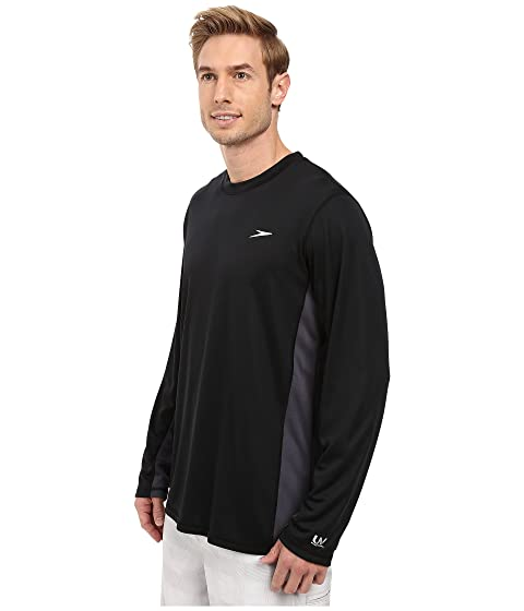 larga en manga de negro negro Speedo camiseta Longview 8qwfRf