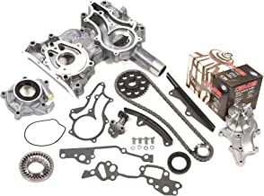 Evergreen TCK2000HPWOP Fits Toyota 22R 22RE Heavy Duty Timing Chain Kit w/Timing Cover, Oil Pump, GMB Water Pump