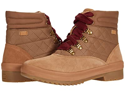 Keds Camp Boot Suede Quilted Nylon WX (Coconut Brown) Women