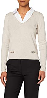 Morgan Pull Manches Longues Col Chemise Mbasti Sweater Femme