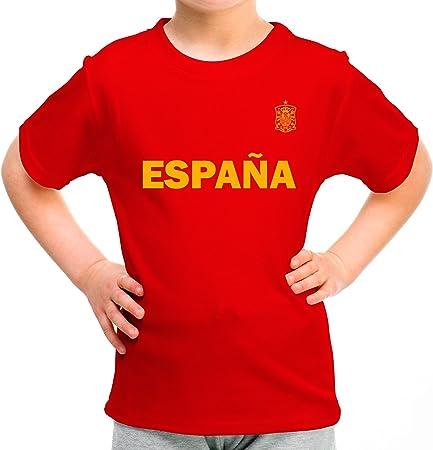 LolaPix Camiseta España Personalizada con tu Nombre y Dorsal | Selección Española | Varios Diseños Tallas | 100% Algodón | Niño | Roja: Amazon.es: Hogar