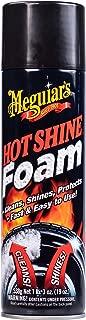 Meguiar's Hot Shine Tire Foam – Aerosol Tire Shine for Glossy, Rich Black Tires – G13919, 19 oz