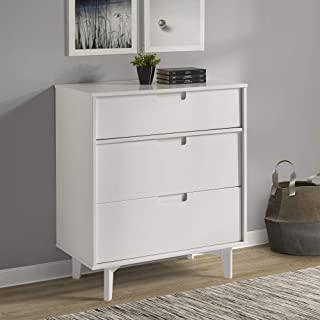 white painted tall chest of drawers