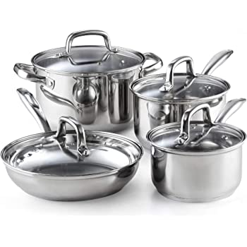 Kinetic Classicor Series Stainless Steel Cookware Set with Lids 29081 Stainless Steel 7 Piece Set 7-Piece