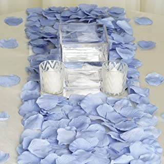 BalsaCircle 2000 Periwinkle Silk Artificial Rose Petals Wedding Ceremony Flower Scatter Tables Decorations Bulk Supplies Wholesale