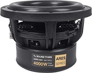 """$154 » Sponsored Ad - Sound Town 10"""" Dual Voice Coil 1000W Car Audio Subwoofer, Dual 4-Ohm, CEA Rated (ARES-10D4)"""