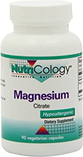 NutriCology Magnesium Citrate 90 Vegetarian Capsules