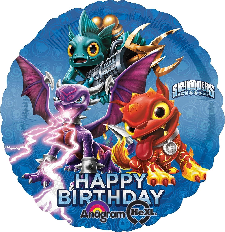 Anagram International HX Skylanders Happy Birthday Party Balloons, Multicolor