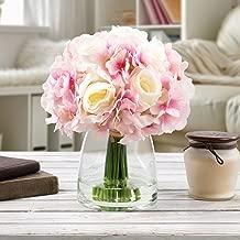 Pure Garden 50-133-PINK Silk Floral Arrangement, White/Pink