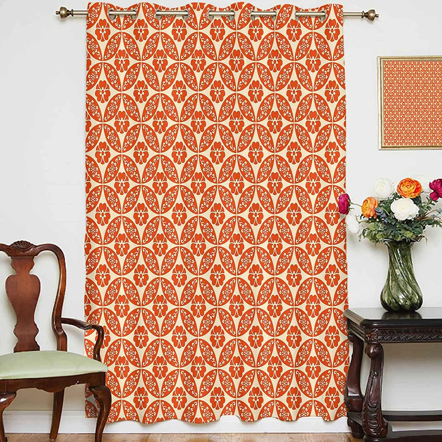 Blackout Branded goods Shading Curtains Japanese Classic Interloc Max 54% OFF Floral Motif