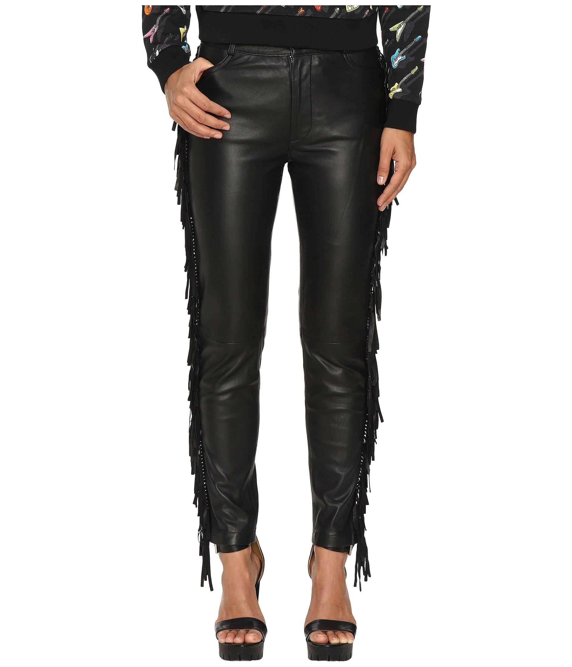 Fringed Leather Pants