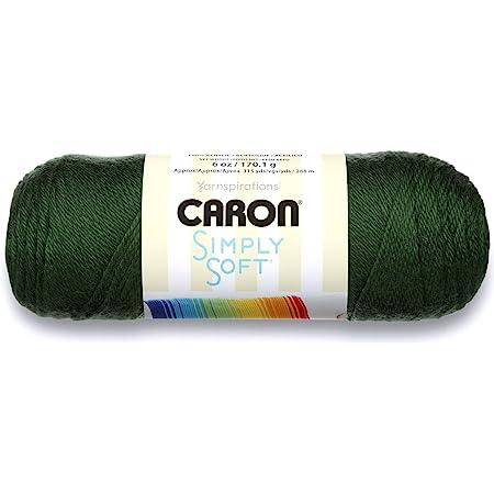 Caron Simply Soft Solids Yarn (4) Medium Gauge 100% Acrylic - 6 oz - Dark Sage - Machine Wash & Dry