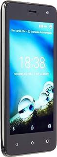 Smartphone Multilaser MS45 4G 1GB Preto Tela 4.5 pol. Câmera 8 MP + 5 MP Quad Core 8GB Android 7.0 - NB720