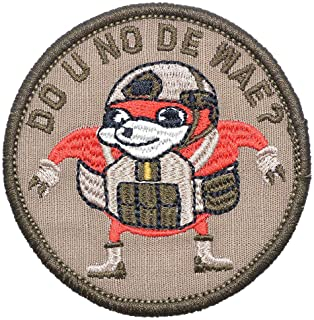 """Ugandan Knuckles""""Do You Know De Wae Patch, Round Morale Patch Tactical Combat Bagde Military Hook Morale Patch Tactical Military Morale Patch Set Hook/Loop Backing -3 inch Hat Patch"""