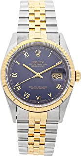 Rolex Datejust Mechanical (Automatic) Blue Dial Mens Watch 16233 (Certified Pre-Owned)
