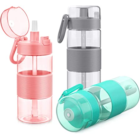 Kitchen Cille 32oz Water Bottle with Straw Sports Water Bottle with Wide Mouth Water Jugs for Gym Working Gym and Outdoor Sports Leakproof Tritan BPA Free Water Bottle with Handle