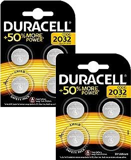 Duracell DL2032/CR2032 - Pilas especiales de botón de litio de 3V, paquete de 8 unidades diseñada para uso en llaves con sensor magnético, básculas, elementos vestibles y dispositivos médicos