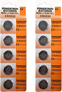 USARemote Battery CR2032 3V for Car Remote Key Fob Keyless Entry (Pack of 10)
