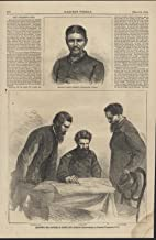 Planning the Capture of John Wilkes Booth 1865 antique wood engraved print
