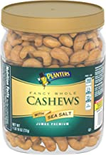 PLANTERS Fancy Whole Cashews with Sea Salt, 26 oz Resealable Jar - Made with Simple Ingredients - Good Source of Vitamins and Minerals - Kosher