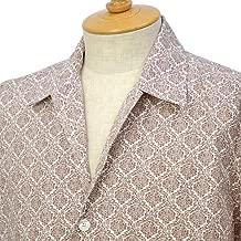 [ORIAN【オリアン】]プリントシャツ MARMY P346 60 コットン ブラウン