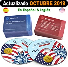 Ciudadania Americana 2019 ( 2 CD + 100 Flash Cards )- ESPAÑOL & INGLES | US Citizenship Test Study Guide 2019, SPANISH & ENGLISH - 100 Official USCIS Questions & Answers