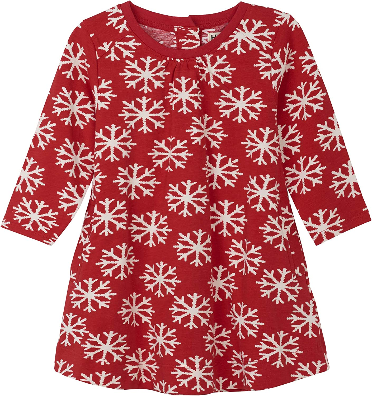 Falling Snowflakes Hatley Baby Swing Dress