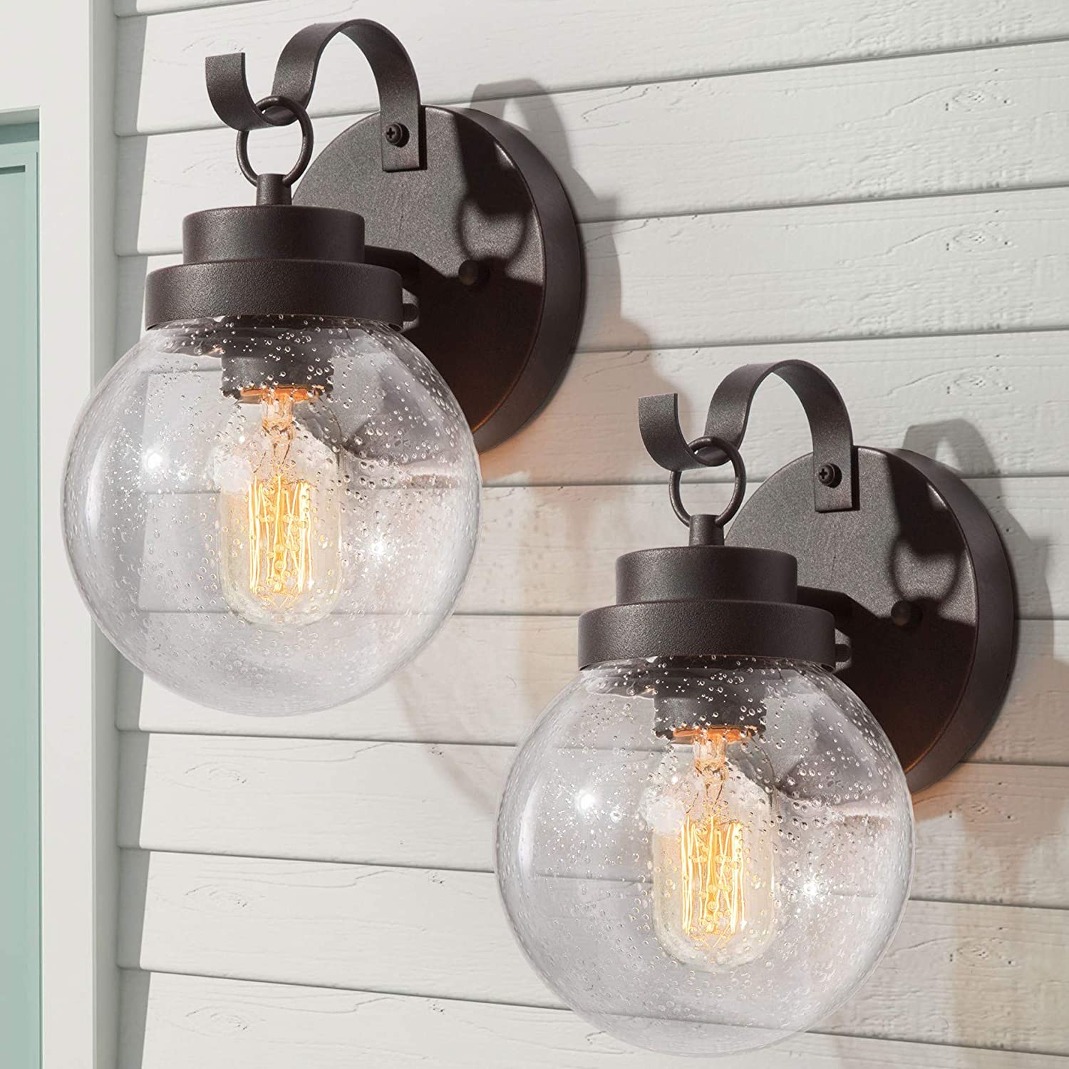 67% OFF of fixed price Price reduction LALUZ 2-Pack Sphere Exterior Light Fixture Ligh Anti-rust Porch