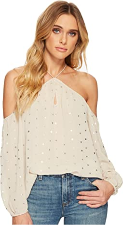 BB Dakota - Aletha Metallic Dot Top