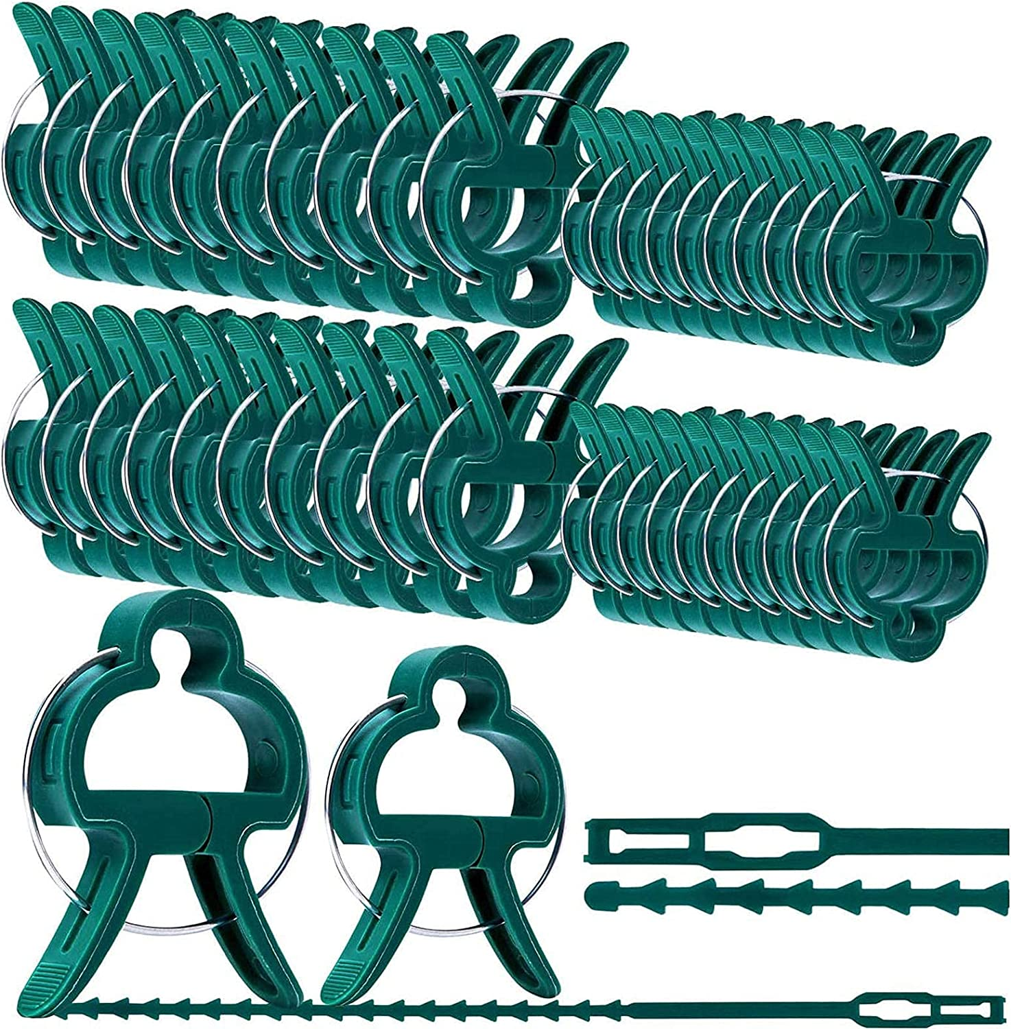 60 Nashville-Davidson Mall PCS Reusable New popularity Garden Clips for Pl Climbing Plants Easy Use to