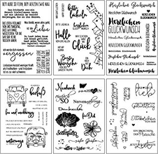 Sweieoni Clear Stamp Silikonstempel Stempelblock 5 St/ücke Acryl Stempelbl/öcke mit Gitter,f/ür Scrapbook Fotoalbum Karten Notizb/üchern Briefmarken Transparent