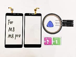 JRLinco Para Leagoo M8 / M8 Pro Pantalla de Cristal Táctil, Touch Screen Digitizer Outer Glass Replacement (Sin LCD Display) para 5.7 Inch Leagoo M8 Negro + Herramientas y Adhesivo de Doble Cara