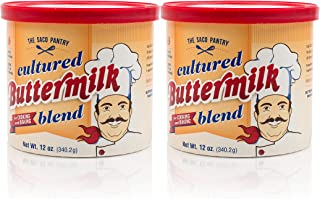 SACO Pantry Cultured Buttermilk Blend, for Cooking and Baking, Low-Fat, Low-Cholesterol, Gluten-Free, Nut-Free, 12oz, Pack of 2
