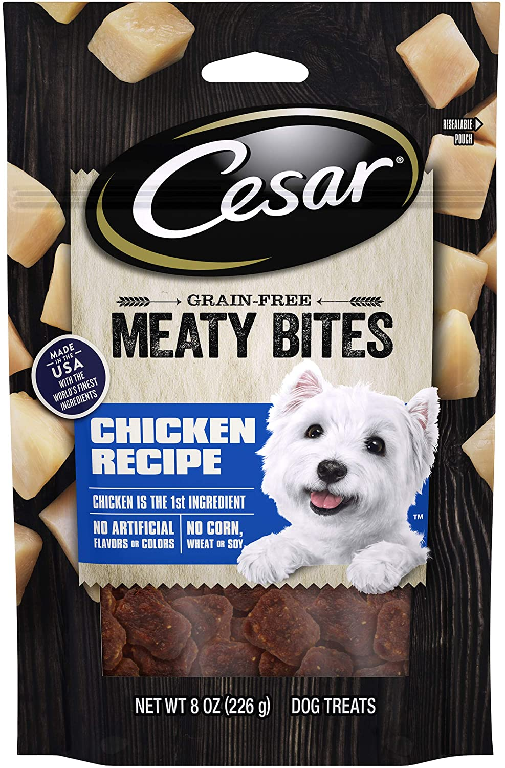 Cesar Meaty Superior and Jerky Dog 8 Pouches 6 Treats Outstanding oz.