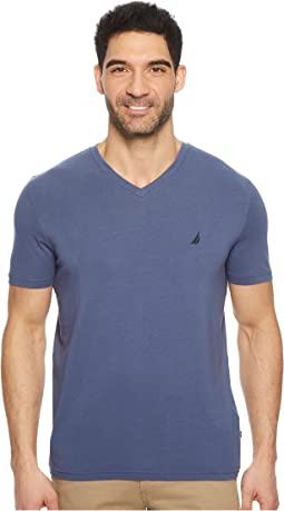 Nautica - Short Sleeve Fashion Color of Anchors V-Neck Tee Shirt