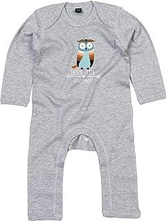 Kleckerliese Baby Strampler Schlafanzug Overall Sprüche Jungen Mädchen Motiv Born 2021 Tiermotiv Pfeil Wunschtext Name Tiere Eule Uhu Wunschname