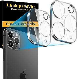 UniqueMe [2 Pack] Protector de Lente de cámara para iPhone 11 Pro / 11 Pro MAX cámara [9H Dureza ] [Sin Burbujas] HD Protector de Pantalla Cristal Vidrio Templado para iPhone 11 Pro / 11 Pro MAX