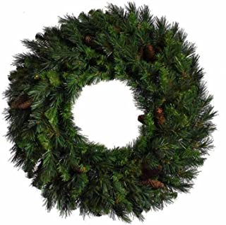Vickerman 6' Cheyenne Pine Artificial Commercial Christmas Wreath with Pine Cones - Unlit