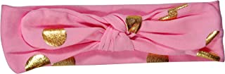ES Kids Knot Headband - pink with gold dot, Pink