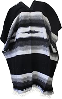 Del Mex Mexican Diamond Woven Eastwood Poncho