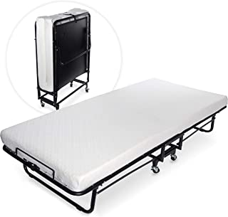 Milliard Premium Folding Bed with Luxurious Memory Foam Mattress – Perfect Guest Bed Featuring a Super