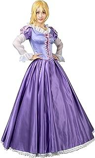 Princess Rapunzel Cosplay Costume Ball Gown Purple Dress mp003880