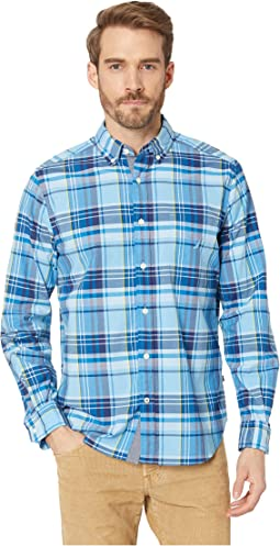Long Sleeve Classic Fit Plaid Shirt