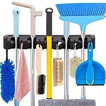 HYRIXDIRECT Mop and Broom Holder Wall Mount Heavy Duty Broom Holder Wall Mounted Broom Organizer Home Garden Garage Storag...
